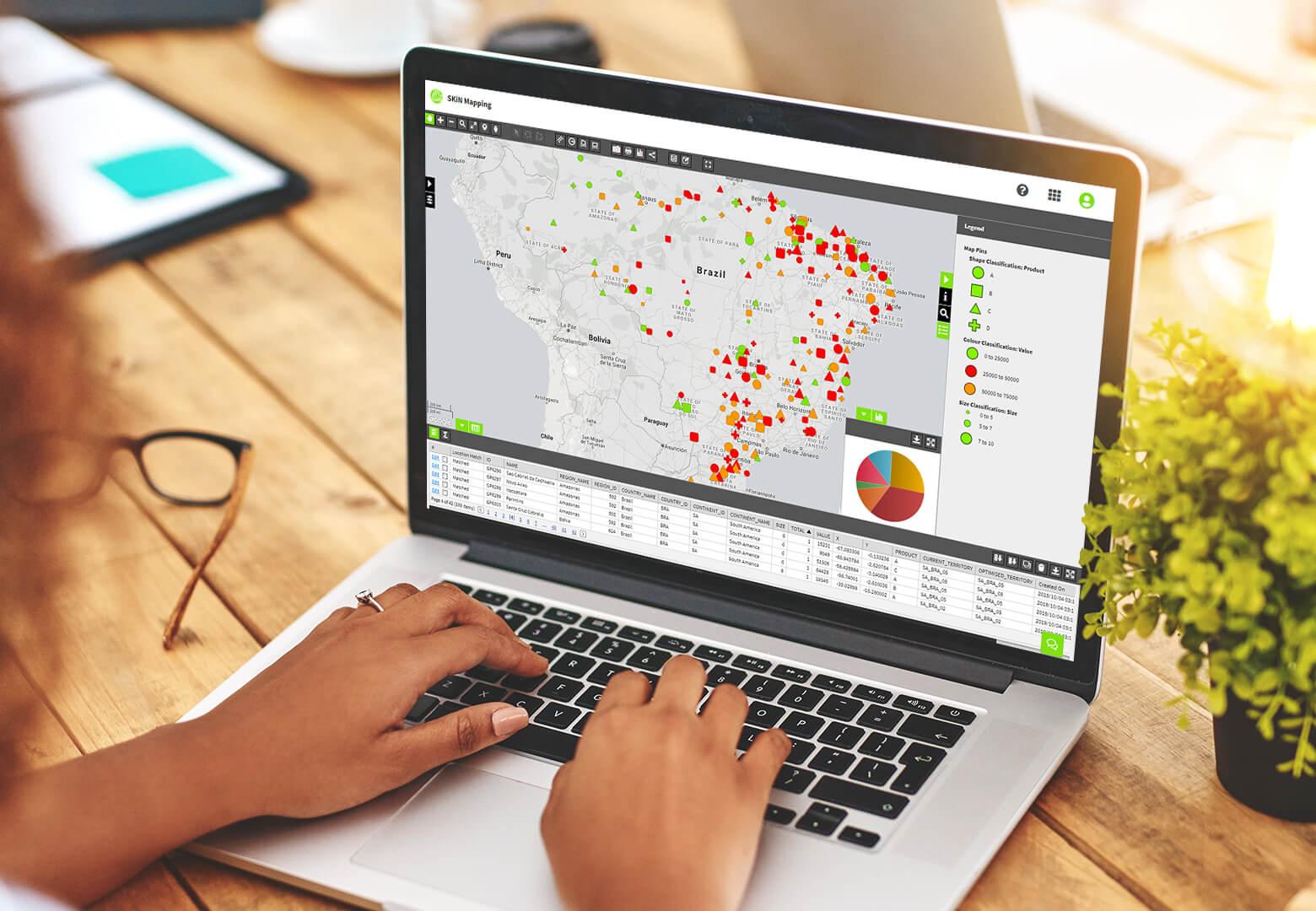 monitoring key locations on laptop