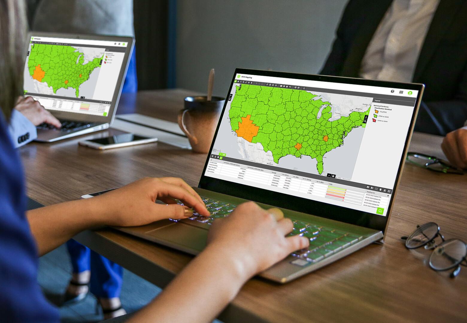 Optimising Rep Locations via Map